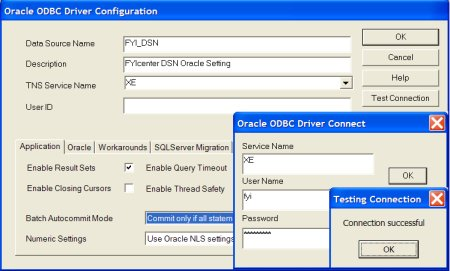 DSN Setting for Oracle ODBC Driver